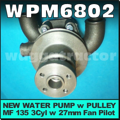 Wagga Tractor parts - WPM6802 Water Pump Massey Ferguson MF 35 35X