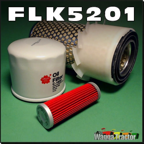 Wagga Tractor parts - FLK5201 Oil Fuel Air Filter Kit Kubota