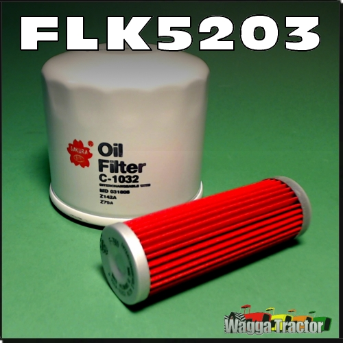 Wagga Tractor parts - FLK5203 Oil Fuel Filter Kit Kubota B20