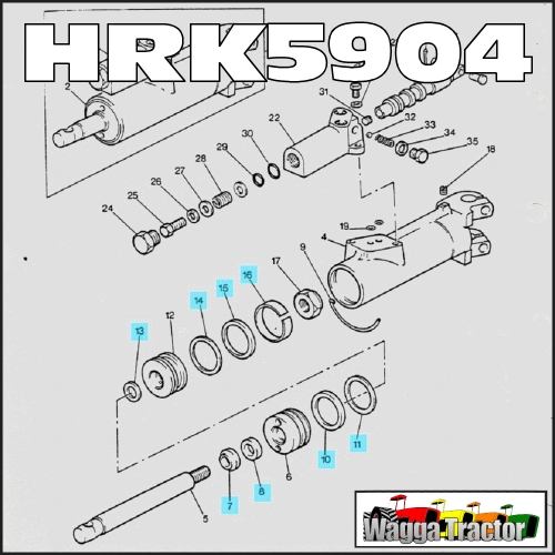 Wagga Tractor parts - HRK5904 Steering Ram Seal Kit Mey ... on