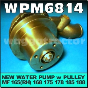 Wagga Tractor parts - WPM6814 Water Pump Massey Ferguson MF 165(RH