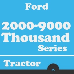 ford 1000 series tractor