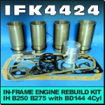 IFK4424 In-Frame Engine Rebuild Kit International IH B250 B275 Tractor with IH BD144 Engine