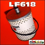 LF618 Oil Filter International Farmall A Tractor & W4 w IH C113 C123 4Cyl Engine, and C135 C152 Engine all with 3.3/4in filter & 1/2in tube