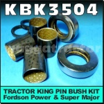 KBK3504 King Pin Bush Kit Ford Fordson New-Major Power-Major Super-Major Tractor