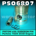 PSO6807 Piston Massey Ferguson 135 Tractor w Perkins 152D Engine & Late MF 65 w 203D