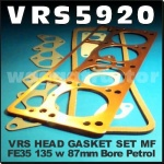 VRS5920 VRS Head Gasket Set Massey Ferguson MF FE35, 35, 135 Tractor w Standard Vanguard 87mm Bore 4-Cyl Petrol Engine