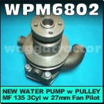 WPM6802 Water Pump Massey Ferguson MF 35 35X 135 Tractor with Perkins 3-152 3-152D 3Cyl Diesel Engine - all with Trapezoidal type fan mount