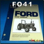 FO41 Workshop Manual Ford 2600 3600 Tractor & 4100 4600 plus 2610 3610 4110 4610
