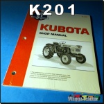 K201 Workshop Manual Kubota L L185 L210 L245 L275 Tractor & B B5100 B6100 B7100