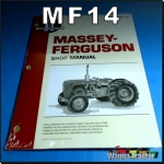 MF14 Workshop Manual Massey Ferguson 35 Tractor w MF 23C & PK 152 Diesel Engine
