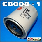 C8008 Spin-on Oil Filter Dodge D3F, D5N, 200, 300, 400, 500 Truck with Chrysler 245 6-Cyl Engine and D5N 200, 300 Truck with Chrysler 318-1, 318-2 V8 Engine, built 1973 thru 1979, only with 16M1.5 thread