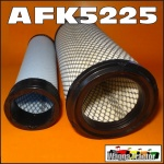 AFK5225 Air Filter Element Kit Kubota L5030 M5400 M5700 MX5000 Tractor, all with radial seal type dual filter air cleaner