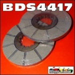 BDS4417 2 Bonded Brake Discs International IH W6 WD6 SWD6 Tractor w 6.5in Disc