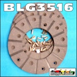 BLG3516 Brake Linings Set Ford Fordson Super-Major Tractor with Disc type brakes