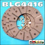 BLG4416 Brake Linings International IH 374 384 434 444 Tractor and Late IH B275 A414 B414 Tractor with 165mm 6.5in OD Brake Discs