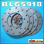 BLG5918 Brake Disc Lining Set Massey Ferguson MF 65 165 175 Tractor 7in Dry
