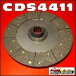 CDS4411 Clutch Disc International IH AW6, AWD6, M, MD, W6, WD6 Tractor - 11in 1.1/2-10T Spline