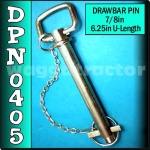 DPN0405 Drawbar Pin General Purpose Tractor 7/8in OD 6.1/4in Useable Length C1