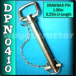 DPN0410 Drawbar Pin General Purpose Tractor 1.0in OD 6.1/4in Useable Length C2