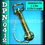DPN0412 Drawbar Pin General Purpose Tractor 1.1/8in OD 6.1/4in Useable Length C2