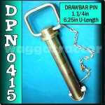 DPN0415 Drawbar Pin General Purpose Tractor 1.1/4in OD 6.1/4in Useable Length C3