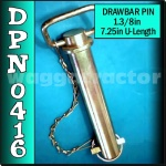 DPN0416 Drawbar Pin General Purpose Tractor 1.3/8in OD 7.1/4in Useable Length