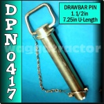 DPN0417 Drawbar Pin General Purpose Tractor 1.1/2in OD 7.1/4in Useable Length