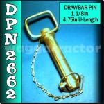 DPN2662 Drawbar Pin General Purpose Tractor 1.1/8in OD 4.3/4in Useable Length C2