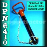 DPN6410 Drawbar Pin General Purpose Tractor 1.0in OD 8.1/4in Useable Length HD