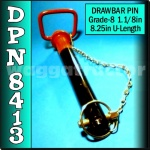 DPN8413 Drawbar Pin General Purpose Tractor 1.1/8in OD 8.1/4in Useable Length HD