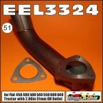 EEL3324 Exhaust Elbow Fiat 450, 480, 500, 540, 550, 640 Tractor with 51mm Outlet