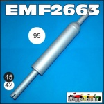 EMF2663 Exhaust Muffler David Brown 770, 780, 880 3-Cyl Tractor, later 850, 950 Tractor and 880 4-Cyl Tractor all with 45mm ID socket