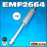 EMF2664 Exhaust Muffler David Brown 885, 990, 995, 996, 1200, 1210, 1212 Tractor and JI Case 1160, 1194, 1290, 1294 Tractor all with 48mm OD standpipe or 51mm ID socket