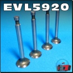 EVL5920 4x Exhaust Valve Massey Ferguson MF 35 FE35 135 Tractor with Standard Vanguard 87mm Engine - 31mm OD head