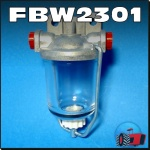 FBW2301 Fuel Pre-Filter w Glass Bowl Chamberlain 6G 9G 212 236 306 354 C456 C670 C6100 Tractor and Mk2 Mk3 2000 Industrial loader