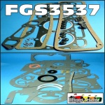 FGS3537 Full Gasket Set Fordson Power-Major, Super-Major Diesel Tractor with Ford 592E Series 2 &3 220ci 4-Cyl Diesel Engine identified by 6 hole valve cover gasket