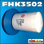 "FHK3502 Oil Filter Conversion Kit Ford 3000 5000 Tractor to replace cartridge w 5"" Spin-On Filter"