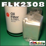 FLK2308 Oil Fuel Filter Kit Chamberlain 4490 4690 Tractor John Deere JD 6-466T Engine