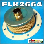 FLK2664 Hydraulic Oil Filter & Gasket David Brown 770 780 880 885 990 995 996 1200 1210 Tractor and JI Case 1190 1194 1290 1294 Tractor all with cartridge filter in bottom of transmission housing