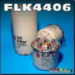 FLK4406 Oil Fuel Filter Kit International 766 786 Tractor & IH 866 886 w CAV FF