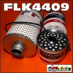 FLK4409 Oil Fuel Filter Kit International IH 564, Late A554 Tractor, and IH BTD6 Crawler (16917 on), all with IH AD264 BD264 Diesel Engine