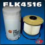 FLK4516 Oil Fuel Filter Kit Isuzu D-Max Holden RC Colorado 4JJ1 Turbo RA Rodeo