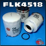 FLK4518 Oil Fuel Filter Kit Holden RA Rodeo Isuzu 3.0L 4JH1 Turbo Diesel Engine