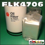 FLK4706 Oil Fuel Filter Kit John Deere 4050, 4250, 4450, 4650, 4850, 8450 Tractor & Late JD 8630 8640 Tractor with 1.1/2-12 oil filter thread