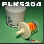 FLK5204 Oil Fuel Filter Kit Kubota B4200 B5100 B5200 B6000 B6100 B6200 Tractor and G1700 G1800 G1900 G3200 G4200 GF1800