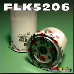 FLK5206 Oil Fuel Filter Kit Kubota L185 L245 L295 Tractor and L1500 L1501 L1801 L2000 L2201 L2601 all with spin-on oil filter