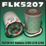 FLK5207 Oil Fuel Filter Kit Kubota L200 L210 L240 L260 Tractor all with cartridge fuel filter