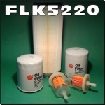 FLK5220 Oil Fuel Air HST Trans Filter Kit Kubota F3060 F3060E F3060R Out Front Mower Tractor built before serial no. 10988