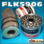 FLK5906 Oil Fuel Filter Kit Massey Ferguson MF 165  168 175 178 185 188 Tractor with Perkins 4-212 4-236 4-248 4Cyl Diesel Engine all with cartridge oil filter